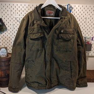 Men's Levi Green Cotton Jacket SZ XXL